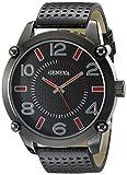 Geneva Men's FMDJM500B Analog Display Japanese Quartz Black Watch