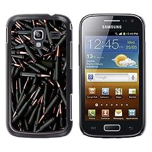 Design for Girls Plastic Cover Case FOR Samsung Galaxy Ace 2 Bullets Gun Black Bling Wallpaper Shoot OBBA