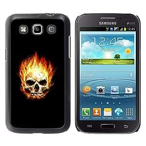 TopCaseStore / la caja del caucho duro de la cubierta de protección de la piel - Flaming Skull - Samsung Galaxy Win I8550 I8552 Grand Quattro