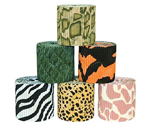 Scalloped Border Sets - Bordette Safari Prints Scalloped Border Set, Set of 6
