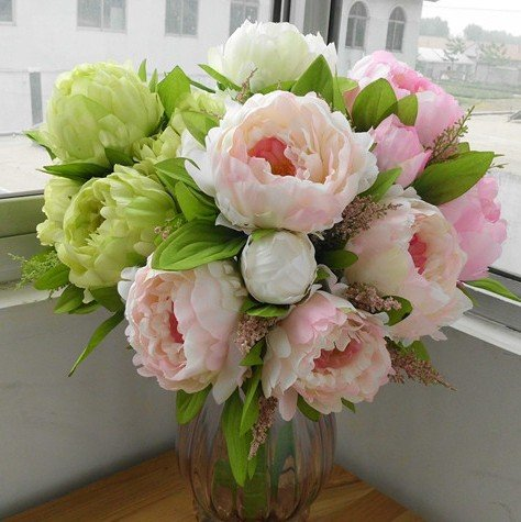 High Quality Peony,bridal Bouquet,wedding Party Table Cen...
