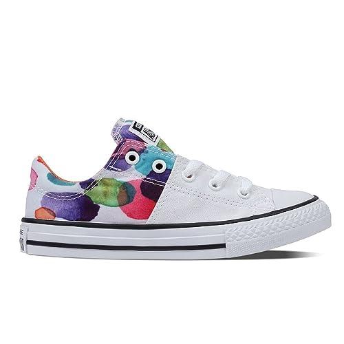 Converse - Zapatillas de Material Sintético para niña multicolor White/Wild Mango/Black, color multicolor, talla 34 EU: Amazon.es: Zapatos y complementos