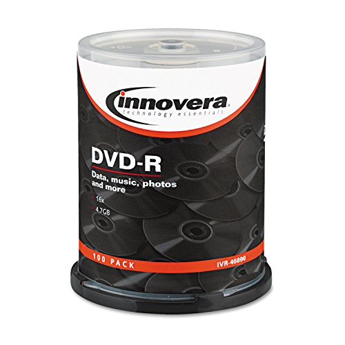 Innovera 46890 DVD-R Discs 4.7GB 16x Spindle Pack of 100 Silver