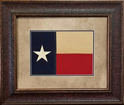 (Antique and Historic Art - Texas Flag - Double MAT - 23X27 INCHES)