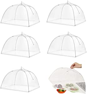 Casolly Mesh Food Covers Tent 17x17 Pop-Up for Outdoor/Picnics/BBQ,6 Pack White