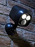 Auraglow Super Bright Motion Activated PIR Sensor Weatherproof Wireless Twin Se