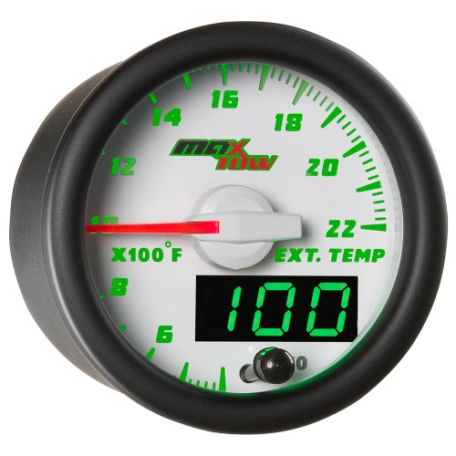 White & Green MaxTow 2200 F Pyrometer EGT Gauge by MaxTow