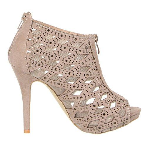 Mujer claro marrón Zapatos Marrón tacón Ital Design con UnwxZpqxIO