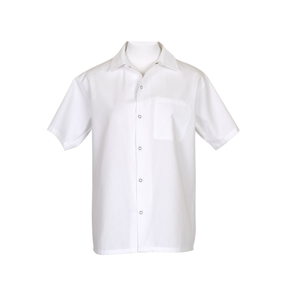 Fame Short Sleeve Cook Shirt (X-Small, White)