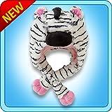 My Pillow Pets Plush Ultra Soft Pink Zebra Hat