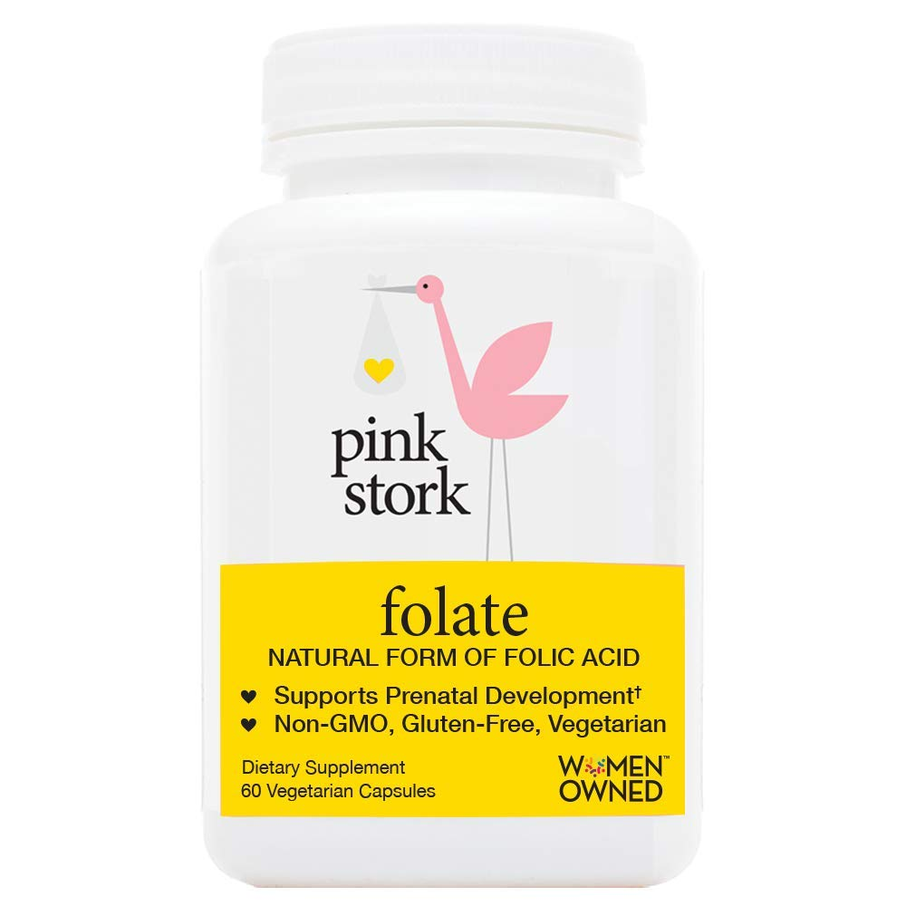 eaedc94ec Pink Stork Folate  Superior to Synthetic Folic Acid -Doctor Recommended  Before and During Pregnancy