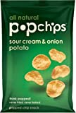 Popchips, Sour Cream & Onion, 3-Ounce Bags (Pack of 12)