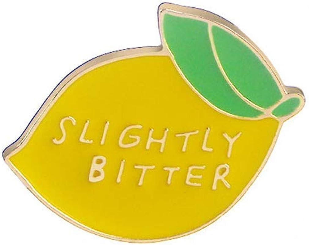 Comelyjewel Lemon Enamel Brooch Pin Backpack Hat Bag Accessory Badge Jewellery- Slightly Bitter Useful and Practical