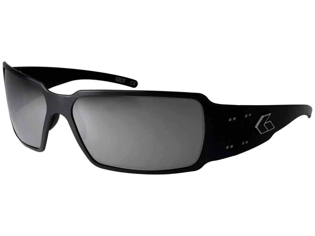 Gatorz Eyewear, Boxster Model, Aluminum Frame Sunglasses - Black/Chrome Lens
