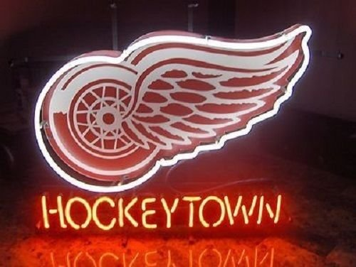 "Desung Brand New 20""x16"" Detroit Red Wing Hockey Town Neon Sign (Various sizes) Beer Bar Pub Man Cave Business Glass Neon Lamp Light DB154"