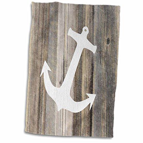 3dRose-Florene-Nautical-Dcor-Image-of-White-Anchor-On-Weathered-Planks-Towel