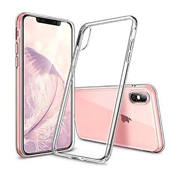 official images new york official site Novago compatibleavec iPhone XS, iPhone X, iPhone 10 Coque Gel Souple  résistante incassable Anti Choc (Transparente)