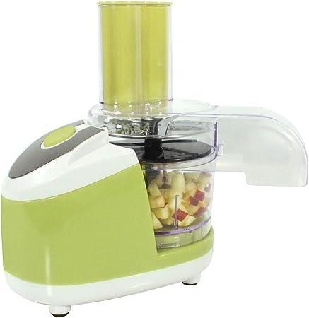 Durandal - Robot de Cocina Universal - Picadora de Verduras eléctrica como utensilio de Cocina Ideal - Mini trituradora para Verduras, Frutas y Carne, Color Verde: Amazon.es
