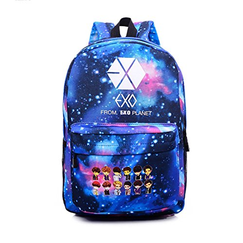 EXO XOXO Fanmade Students Bookbags Canvas Schoolbag Backpack Shoulder Bags  Satchels PINGJING (EXO) 1e928a67d8