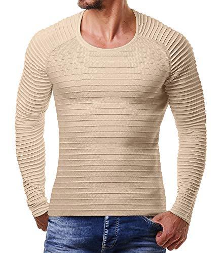 Coofandy Men's Cotton Knitting Pullover Lightweight Casual Sweater Autumn Winter, 2- Khaki, S