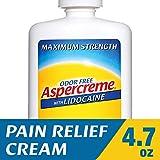 ibuprofen cream - Aspercreme with Lidocaine Maximum Strength Pain Relief Cream, 4.7 oz.