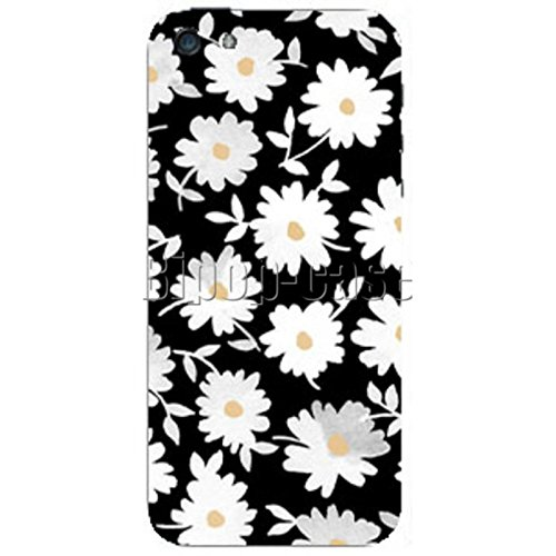 COQUE PROTECTION TELEPHONE Iphone 5 ET 5S - FLEURS BLANCHES