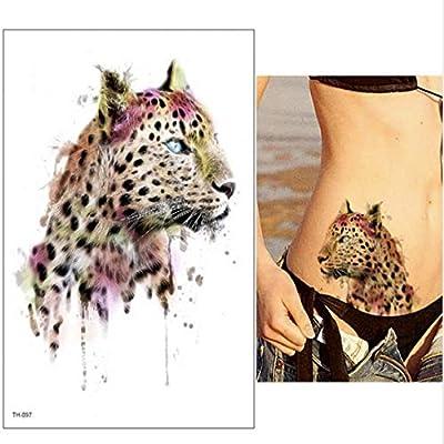 tzxdbh 2 Unids-Grande Tigre Temporal Tatuaje Flor Brazo Cuerpo ...