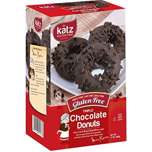 Katz, Gluten Free Triple Chocolate Donuts, 13 Ounce, (1 Pack)