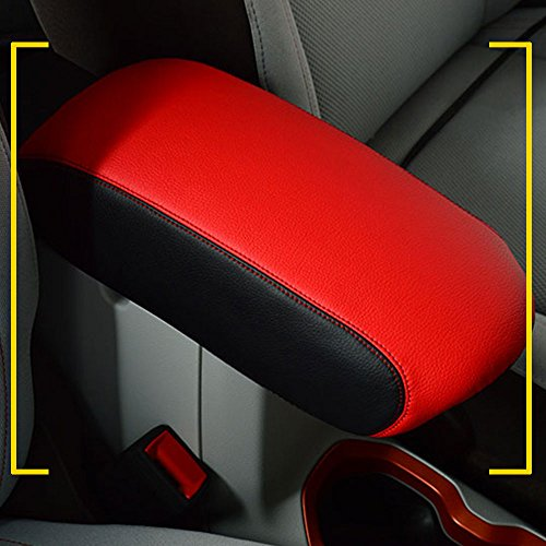 Autou Center Console Cover Red Leather Protector for Jeep Renegade 2015 2016 2017