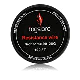 Resistance Wire Ni 90 28 Gauge - 100 ft Nichrome 90 AWG 0.32mm
