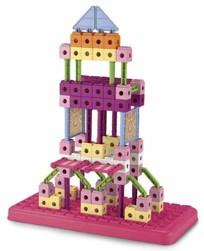 Fisher-Price TRIO Building Set with storage - Pink (Construction Trio Set)
