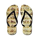 CafePress - Vintage Barnyard Birds - Flip Flops, Funny Thong Sandals, Beach Sandals