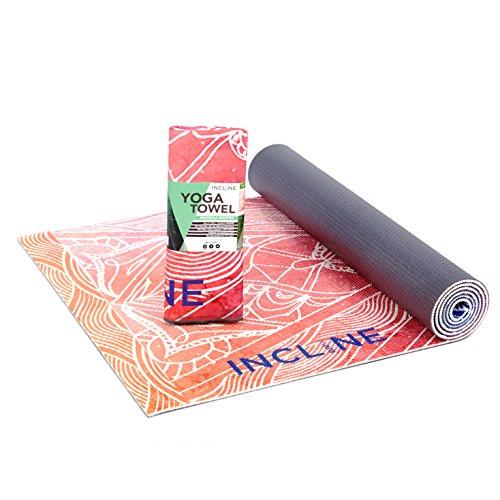 Incline Fit Printed Yoga Mat and Towel, Mandala Mantra