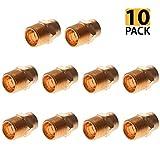 PROCURU 1/2-Inch Copper Male Adapter CxM | Professional NSF Lead Free Certified (1/2'', 10-Pack)