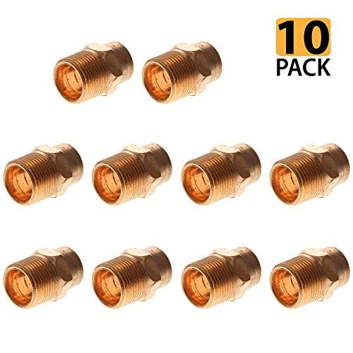 PROCURU 3/4-Inch Copper Male Adapter CxM, NSF Lead Free Certified (0.75 Inch, 10-Pack) ()