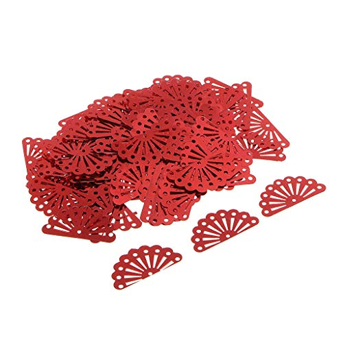 - Peacock Paillettes Clothes Loose Sequins Wedding Craft DIY Sewing, 100g | Color - Red
