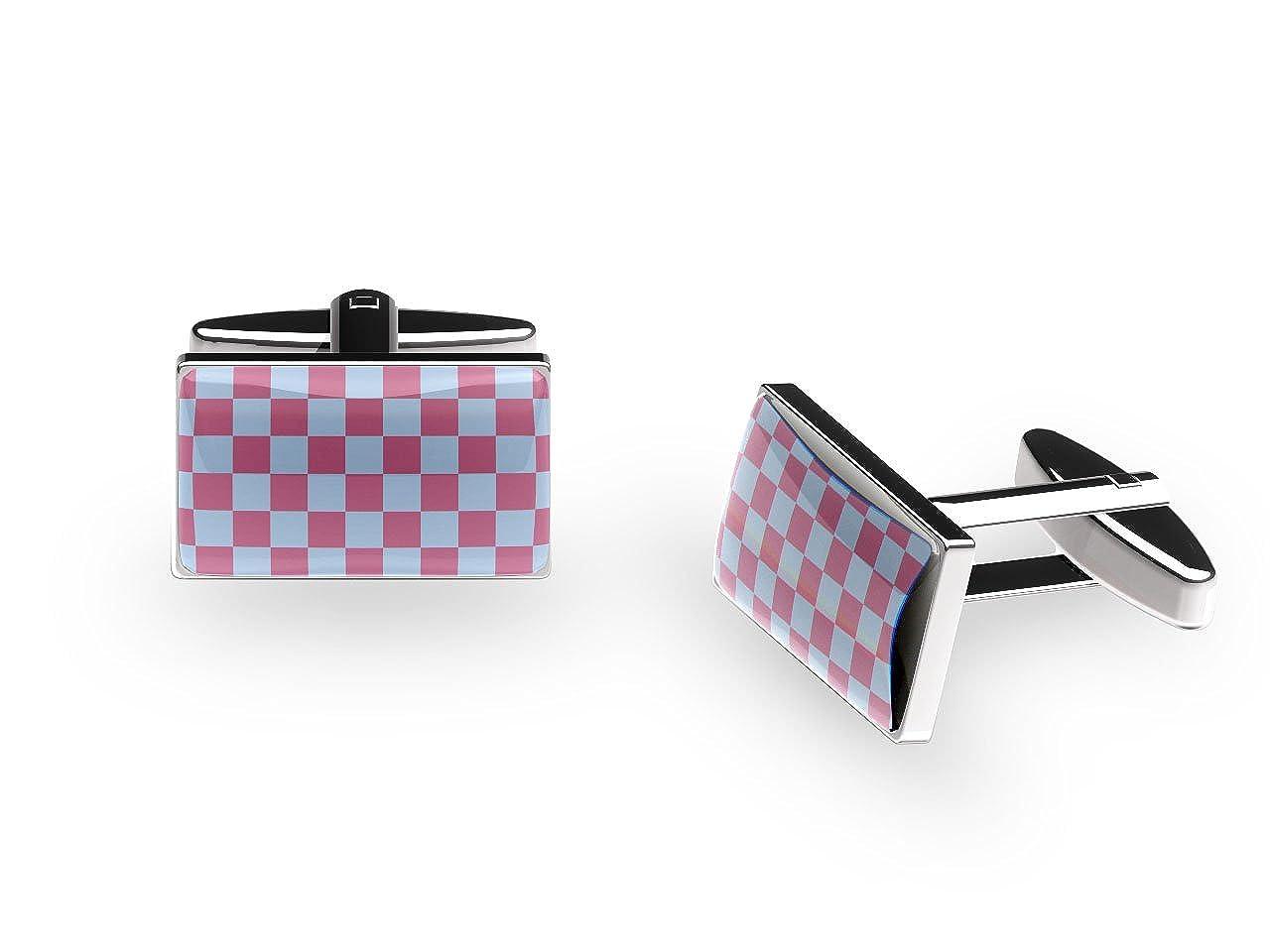 'Claret & Blue' Cufflinks (with gift box) CNC4315