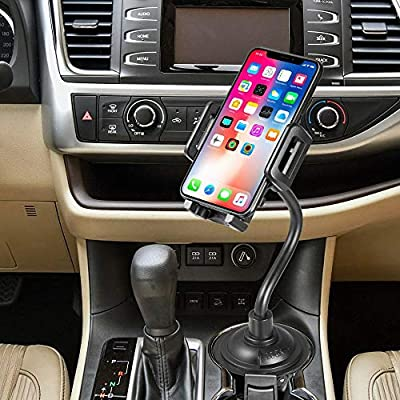 Universal Car Cup Holder Phone Mount with Longer Neck & 360° Rotatable Cradle for iPhone 11 Pro Max/11 Pro/11/Xs Max/X/8 Plus/7 Plus/7/8/Galaxy Note 10 Plus/Note 10/S10/S10 Plus/S9 Plus: Electronics