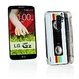 Kit Me Out CAN TPU Gel Case for LG G2 D802 - Multicoloured Vintage / Retro Cassette
