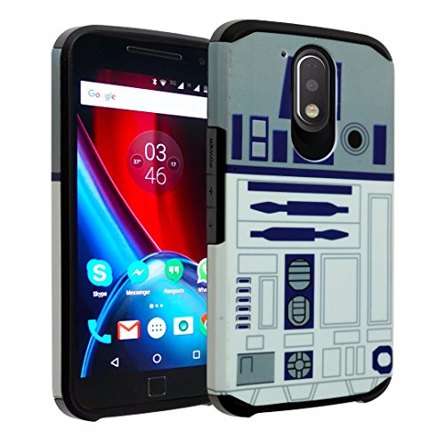 Moto E3 Case, DURARMOR [Drop Protection] Dual Layer Hybrid ShockProof Armor Defender Protector Case Cover for Motorola Moto E 3rd Gen / G4 Play / E3 / G Play- Star Wars R2D2 Astromech Droid Robot