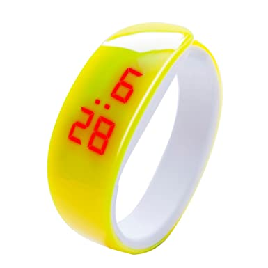 Reloj deportivo, impermeable, precisa hora, unisex, anillo ajustable brazalete de acero inoxidable,Reloj de pulsera con pantalla digital LED Dolphin Young ...