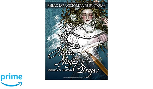 Amazon.com: Hadas, Ninfas y Brujas - Libro para Colorear (Volume 1 ...