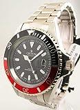 Croton Men's CA301157RDBK Stainless Steel Quartz Watch, Watch Central