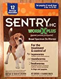 Sentry Hc Worm-x Plus Small Dogs & Puppies De-wormer Dewormer Pills 12 Tablets