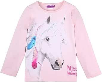 Miss Melody niñas Camiseta, T-Shirt, Manga Larga, Rosa