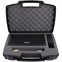 CASEMATIX Travel Carry Case For Epson WorkForce WF-100 Wireless Mobile Printer , T215 Ink Cartridges , Power Adapter , Cables and More Accessories