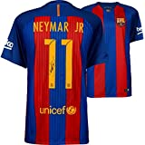 Neymar Santos Barcelona Autographed 2016-2017 Blue & Red Nike Jersey - ICONS - Fanatics Authentic Certified