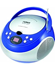 NAXA Electronics NPB-251BU Portable CD Player with AM/FM Stereo Radio - 9.000000in. x 9.000000in. x 6.500000in, Blue