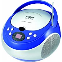 NAXA Electronics NPB-251BU Portable CD Player with AM/FM Stereo Radio
