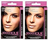 Combo Pack! 1000 Hour Eyelash & Brow Dye / Tint Kit Permanent Mascara (Black & Brown Black) by 1000Hour